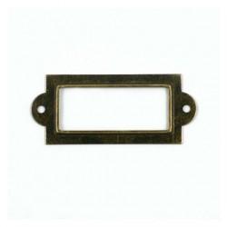 Porte étiquettes bronze