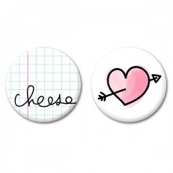 Duo de badges Le Monde de Lola