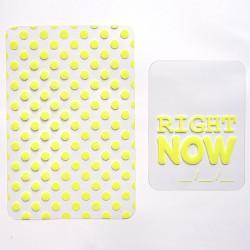 2 cartes fluo transparentes