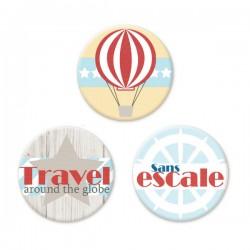 Trio de badges Itinéraire Bis